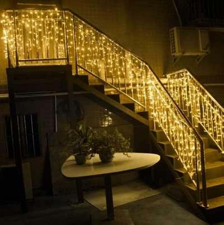 LED-Lichter Lichtvorhang Wasserfall Anchor Bar Dekoration Hintergrund Kupfer eis Lampe-Serie, Blau 4  0,6 m