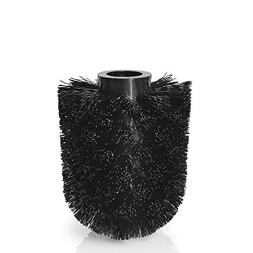 blomus -BATHROOM- Ersatzbürste aus Kunststoff für Toilettenbürste, unkompliziert wechselbar, passend für blomus NEXIO-/MENOTO-/AREO-/SONO-/MODO-Serie (H / B / T: 11 x 7,5 x 7,5 cm, Schwarz, 88092)