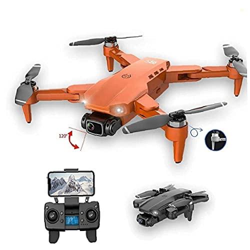 FMHCTN Mini FoldableDrone Quadcopter Plegable para Adultos y niños Cámara 4K HD GPS RC Drone con 2 baterías Gris