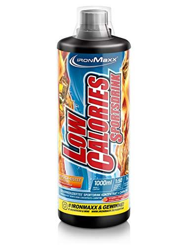 IronMaxx Low Calories Sportsdrink Sirup - 1000ml - 66 Portionen - Eistee - Konzentrat mit weniger als 1 kcal auf 100 ml Fertigdrink - Enthält Vitamine & L-Carnitin - Designed in Germany