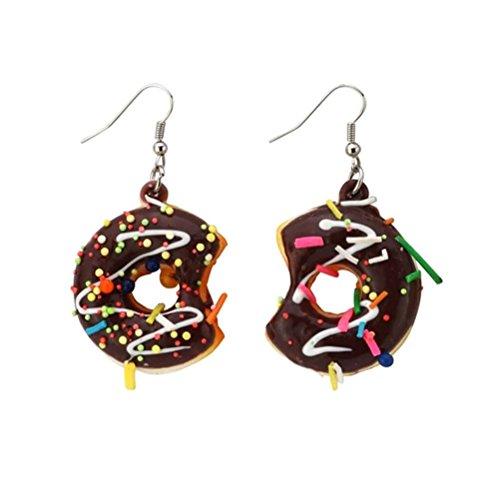JOE COOL Delicious Funky Große Iced Ring Donut Ohrringe
