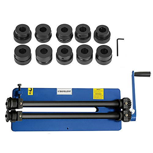 Rundbiegemaschine Biegemaschine Rundbiegegerät 460 mm Sickenmaschine mit 3 x Runde Perlensätze und 3 x Schrittsätze, 1,2 mm