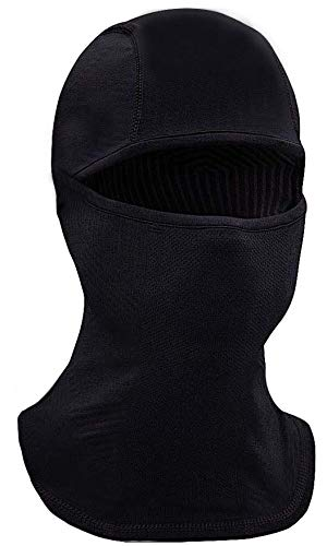 [Newer| Balaclava Face Mask fits for Halloween, Protection from Cold, Wind, Dust, UV - Reusable Face Cover Ski Mask Black