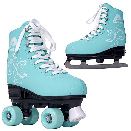 Apollo Superskate 2 in 1, Multiskates, Rollschuhe & Schlittschuhe für Damen und Kinder, Skates in 3 Größen, über 4 Schuhgrößen verstellbar, Schlittschuh mit Rollerskates