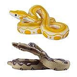 LEDMOMO へびのおもちゃ いたずらグッズ へび 蛇 ヘビ 偽の蛇リアル 小道具 面白い おもちゃ 2点セット