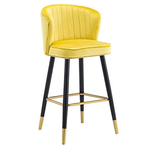 HAOYF Sedie da Pranzo Sedia ad Alto Sgabello Sedie per Cuscino di Velluto Arredamento Arredamento Velvet Bar Sgabelli Altezza Barstools Area per Ufficio Sedia (Colore: Grigio, Dimensioni: 55 cm)