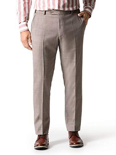 Walbusch Herren Anzug Hose Sommerwolle einfarbig Sand 56