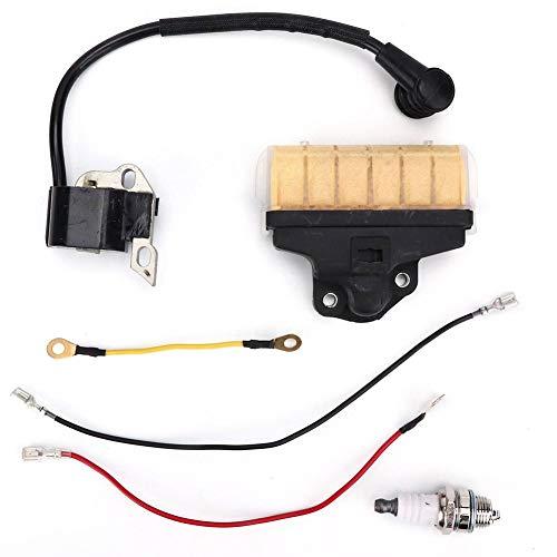 Fdit Kit de tapón de Encendido de Bobina de Encendido de Filtro de Aire para STIHL 021 023 025 MS210 MS230 MS250 Motosierras Herramienta de jardín Accesorios Esenciales