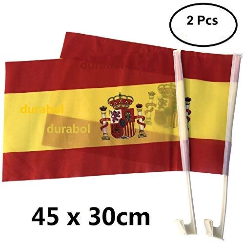 Durabol 2PCS Banderas De Coche España(30 * 45cm)