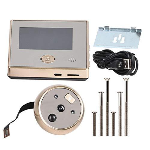 Timbre con video de la cámara, timbre con video de 2.8 pulgadas, para monitoreo del hogar del hotel de seguridad en el hogar
