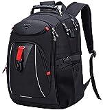Mochila para ordenador portátil de 17,3 pulgadas, mochila escolar, multifunción, para negocios, resistente al agua, con puerto de carga USB para hombres/universidad/trabajo/viajes al aire libre