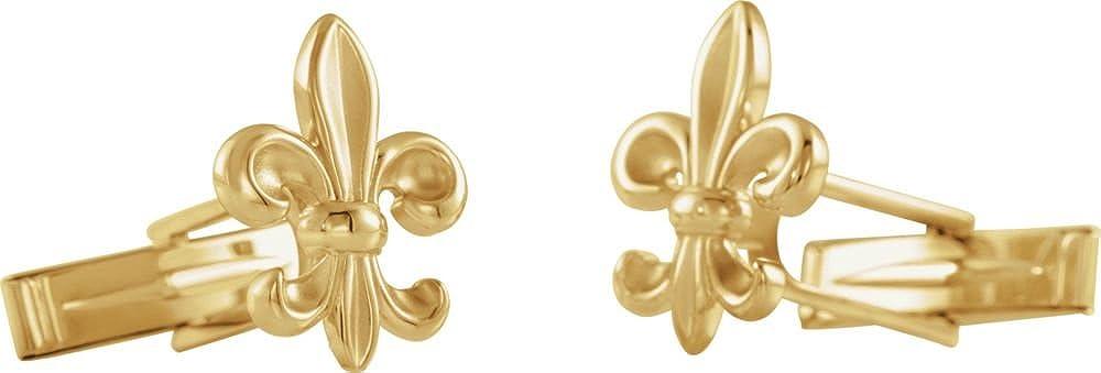 Sterling Import Silver 2021 new Fleur-de-Lis Cuff Links Men's