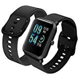 Th-some Correa para Amazfit GTS Impermeable Universal - Reemplazo de Pulsera Ajustable para Xiaomi Huami Amazfit Bip/Amazfit Bip bit Lite Youth/Amazfit GTR 42mm Watch, Sin Tracker - Negro