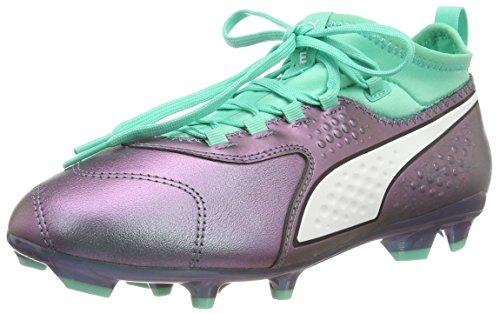 Puma Unisex-Kinder One 3 Illuminate Fg Fußballschuhe, Violett (Color Shift-Biscay Green White Black), 33 EU