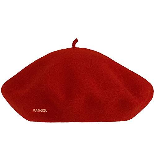 Kangol Unisex Modelaine Beret Baskenmütze, rot, One Size