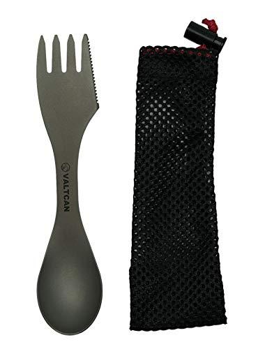 "Valtcan Titanium ""Food Shovel"" Spork 3in1 Utensil"