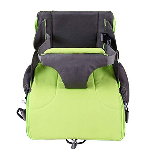 TMY chaises hautes 2 in 1 Portable Baby Booster Sièges Sac À Langer pour Maman Bébé Chaise Nourrir Mama Nappy Sac Pliable Sac À Dos À Couche (Color : Green)