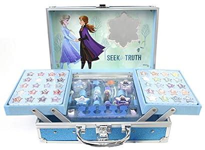 Frozen 2- Frozen II Princess Makeup Traincase, Color azul, Talla Única (Markwins 1599018E)