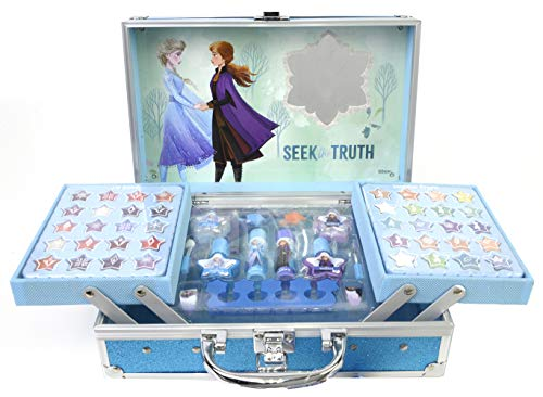 Frozen II Makeup Train Case - Maletín de Maquillaje de 2 Pi