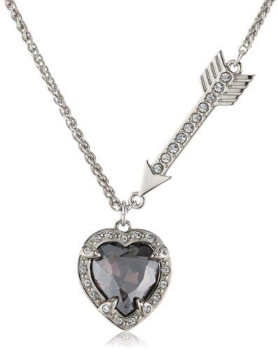 Swarovski Damen Halskette Palladium Velika Heart Kristall 42 cm mehrfarbig 5019062