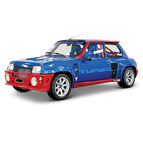 Bburago- Coche Metal Renault 5 Turbo, Color rojo, Escala 1:24 (15621088BL) , color/modelo surtido
