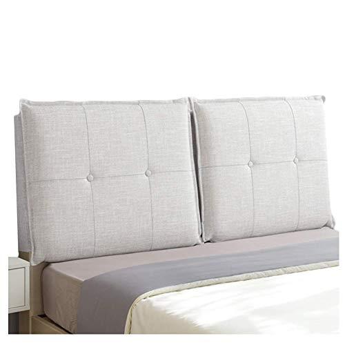 QIANCHENG-Cushion Kopfteil Rückenlehnen Bett Kissen Keilförmige Rückenlehne Lumbalpelotte Weiche Tasche Zuhause Doppelbett Leinen zurück, 8 Farben (Color : #2, Size : 150x58x10cm)