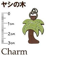 合成皮革チャーム ヤシの木 CF-18A #540茶 【INAZUMA】 ファスナーチャーム ジッパー 引き手 ハワイアン