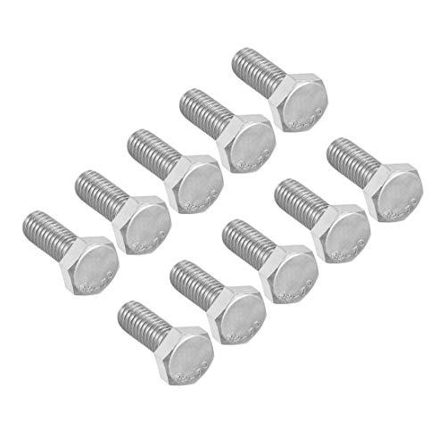 Rosca M6 16 mm 304 tornillos hexagonales de acero inoxidable pernos de fijación 10 piezas