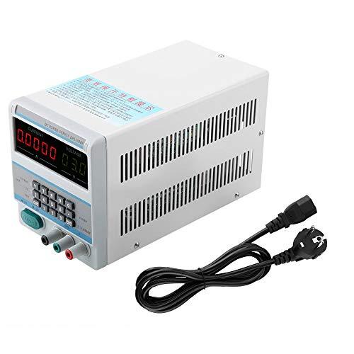 Fuente de alimentación estabilizada de CC, fuente de alimentación estabilizada digital de pantalla clara, con accesorio de luz de fondo con dial de(European regulations)
