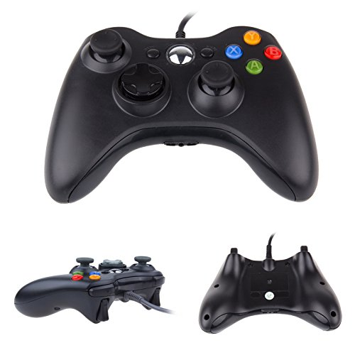 TTAototech Usb Alámbrico Gamepad Controller Microsoft Xbox360 Wii Ps3 Alámbrico Gamepad/Negro Gamepad