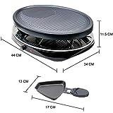Zoom IMG-1 griglia elettrica raclette grill per