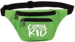 Cute, Funny Neon Green Fanny Pack for Boys, Kids, Teens - Cool Kid Waist Belt Bag, Phanny Pack for Travel, Gym - Great Gift