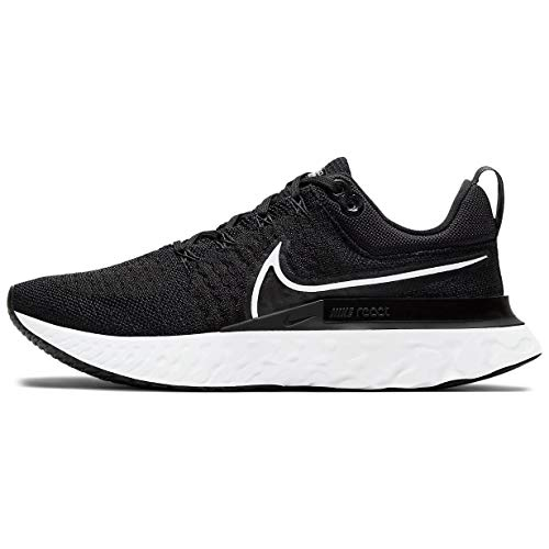 Nike W React Infinity Run FK 2, Zapatillas para Correr Mujer, Black White Iron Grey, 44 EU