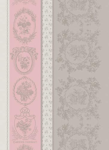 Garnier Thiebaut Geschirrtuecher Lysandra Rose 56 X77Cm 100% Baumwolle