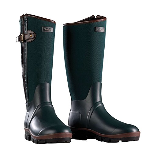 Caldene Bramham Country Wellington CD4720 Gummistiefel, Reiter, grün, UK 3 / EU 36 / US 5 / AU 5