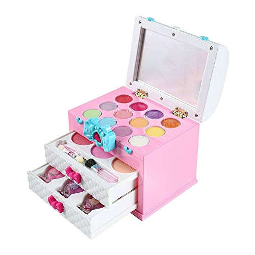 Little Girls Pretend Makeup Kit, Cosmetic Pretend Play Set Kids Beauty Salon Makeup Set Toy para niños Best Gift Set