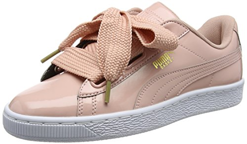 Puma Basket Heart Patent Wn's, Zapatillas para Mujer, Beige (Peach Beige), 40.5 EU
