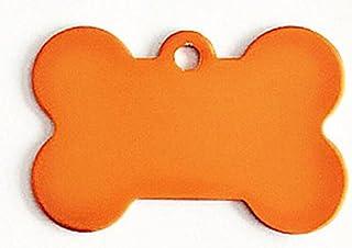 Polykor Useful Bone-Shaped Dog Tag Leash Pendant Tag Collar Accessories(Orange