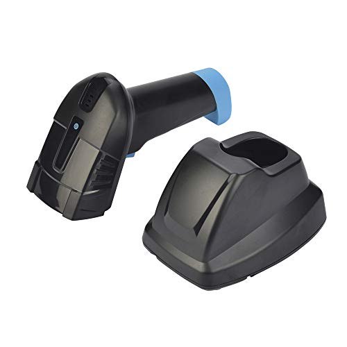 LNLJ Scanner de Code à Barres sans Fil 2D avec Station de Chargement USB pour la Lecture de Codes à Barres à l'écran pour UPC, inventaire, Vente au détail, entrepôt (Noir)