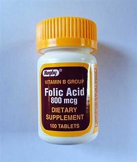 Rugby Folic Acid 800mcg 100ct