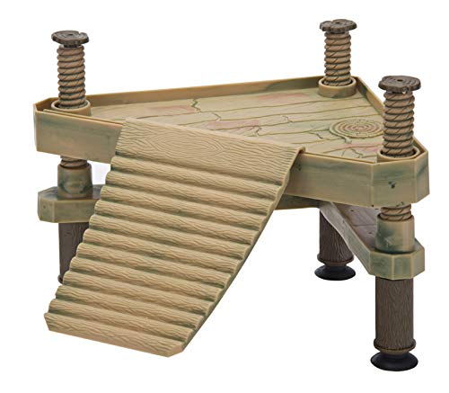 Penn-Plax Reptology Floating Turtle Pier and Basking Platform – Decorative, Functional, and Naturally Inspired – Small Size (Model Number: REP602)
