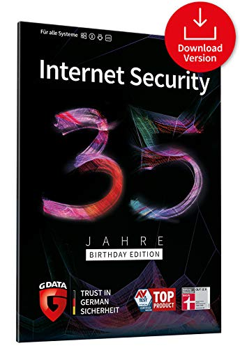 G DATA Internet Security 35 Jahre Sonderedition: 5 Geräte, 1 Jahr - Digitaler Download | Kompatibel mit Windows, Mac, Android und iOS - zukünftige Updates inklusive