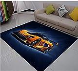 Tapis Sport Extrême De Voiture De Course Tapis d'impression 3D Salon Chambre Tapis Antidérapant Tapis De Jeu pour Enfants Enfant Tapis Rampant-100 X 160 CM