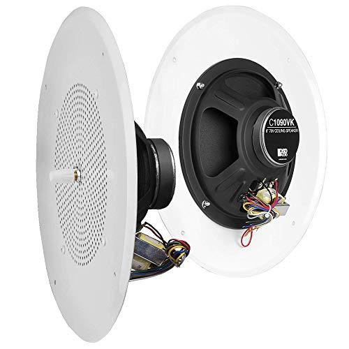OSD Audio 8' Commercial 70V Ceiling Speaker w/Front Volume Control Knob Single White C1090