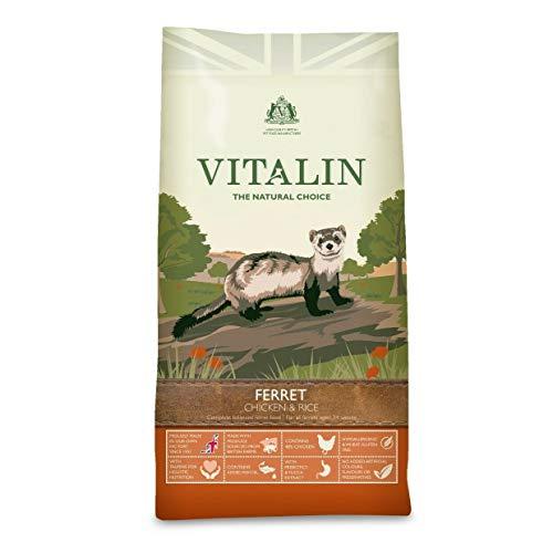 Vitalin Komplettes Trockenfutter für Frettchen, Huhn und Reis, 2 kg