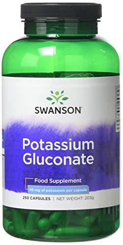 Swanson Potassium Gluconate 99mg, 250 Capsules