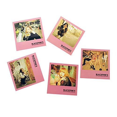 Yuxareen 5 Blatt Kpop Blackpink Mitglied Karten Set Polaroid LOMO Karte HD Bilder Unterstützung kleine Karten Postkarte Hot Geschenk für Fans