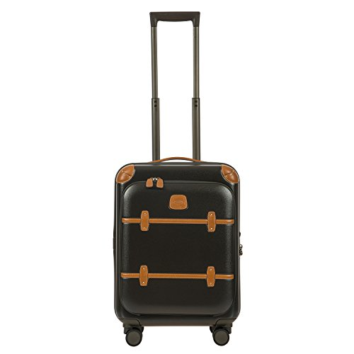 Bellagio 2.0 Ultra Light 21 Inch Carry On Business Spinner Trunk with Pocket, Olive