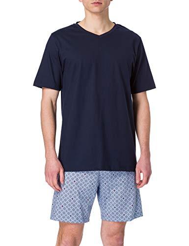Seidensticker Herren kurz Jersey Zweiteiliger Schlafanzug, Nachtblau, 56