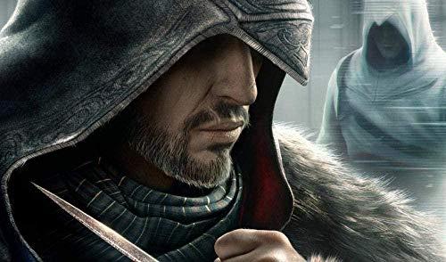 XIAOSHI Puzzle 1000 Piezas Imposible Rompecabezas Assassin'S Creed Adultos Puzzle Niños 3D Decoración Pared Imagen Madera Montaje Educación Rompecabezas Alivie Estrés Divertido Juego